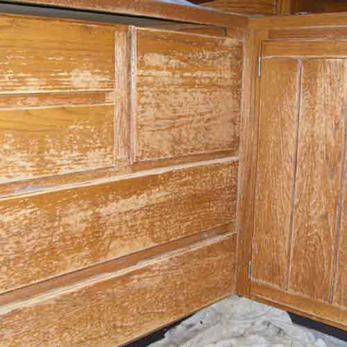 Maple Valley  Cabinet Restoration Before Pic