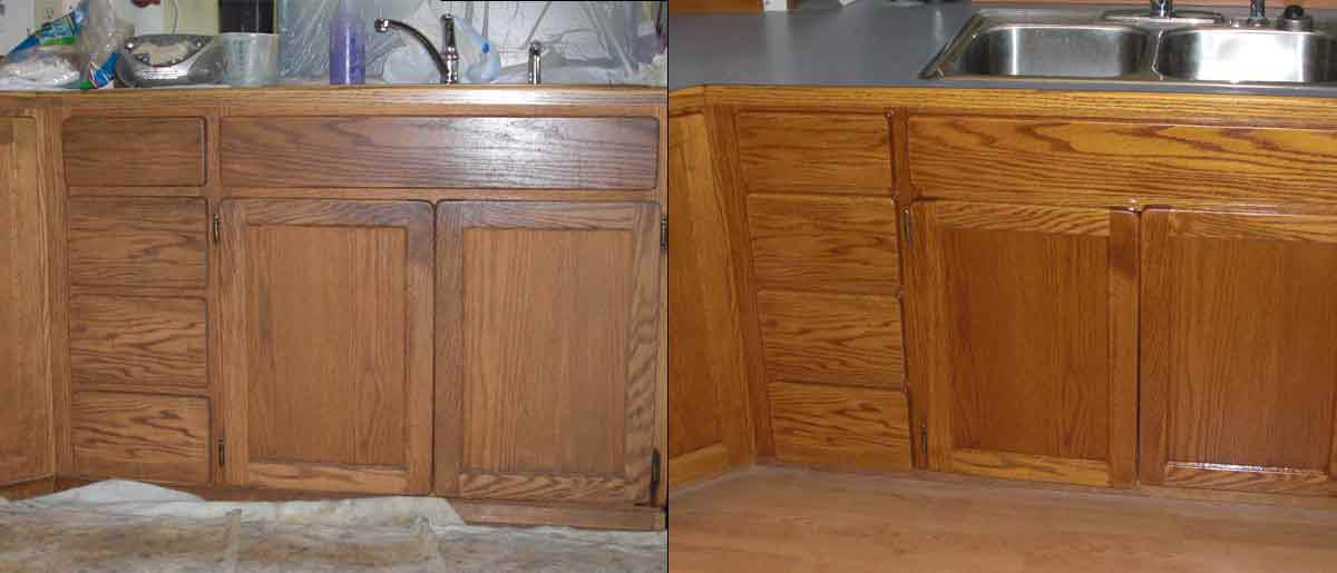 Maple Valley   cabinet refacing after
