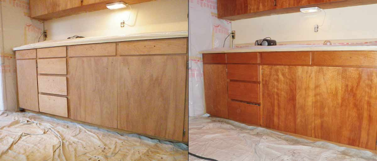 Maple Valley   cabinet refinishing before