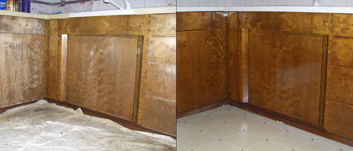 Maple Valley  cabinet refinishing after